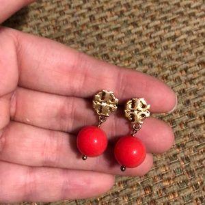 Tory burch ball drop earrings
